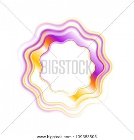 Abstract bright wavy logo ring. Vector colorful design