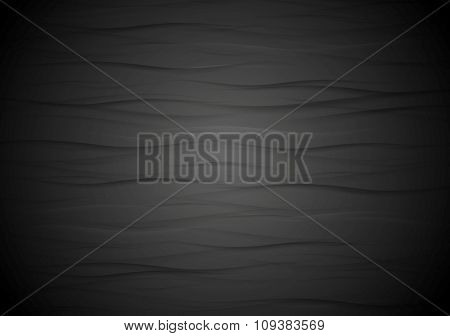 Abstract wavy black texture background. Vector graphic design