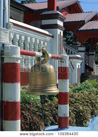 Buddhist ritual Gong in the temple of Thailand