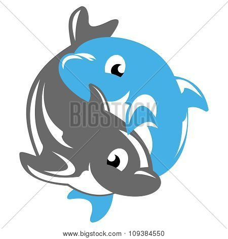 Dolphin yin yang