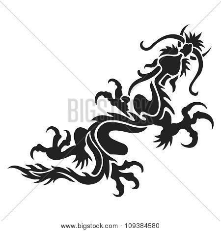 Vector Flying Dragon
