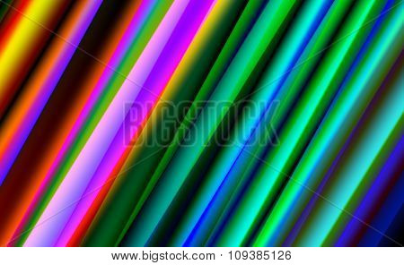 Abstract Colorful Strips on Blue Background