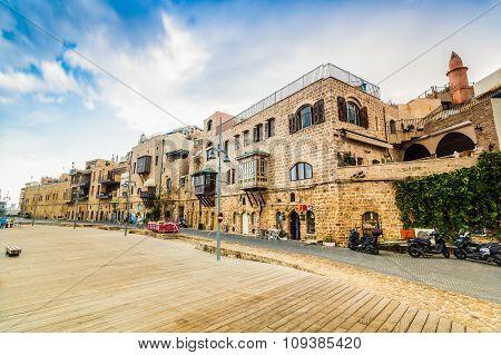 Old Port Buildings In Yafo, Israel