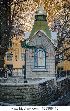 Chapel In The Old Town Of Tallinn Winter Day
