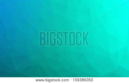 Abstract Bright Blue Geometric Background, Consists Of Triangles. Polygonal Abstract Aqua Background