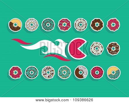 Fast Food Set Donut