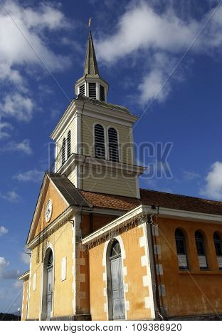 Picturesque Church Of Trois Ilets In Martinique