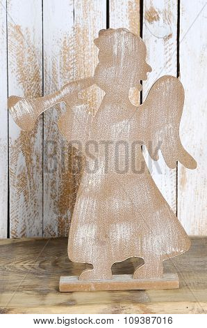 Christmas Figure Of An Angel With A Trumpet