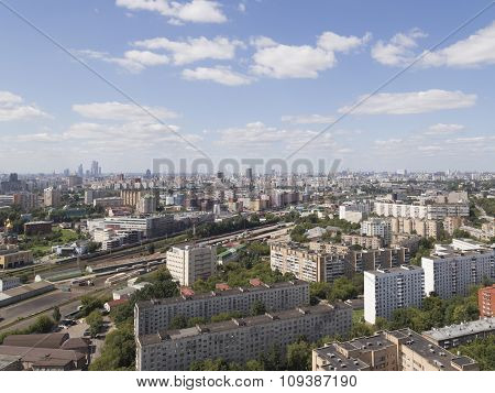 Top View Of Moscow In The Summer