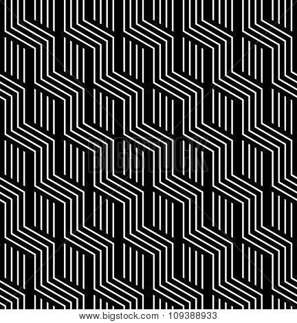 Seamless geometric texture. Striped zigzag lines. Vector art.