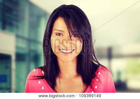 Beautiful young woman in casual clothes portrait