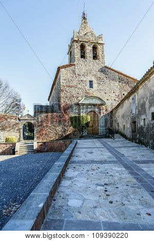 The Romanic Church Of Santa Maria De Sau In Vilanova De Sau,  Spain