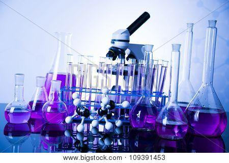 Laboratory glass, Chemistry science concept