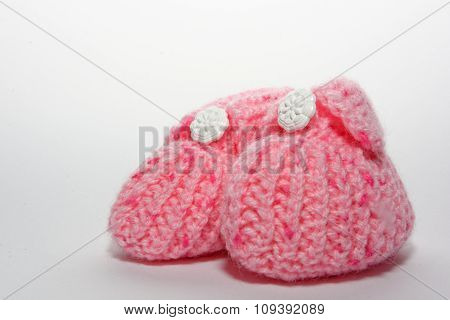 Isolated Baby Shoes