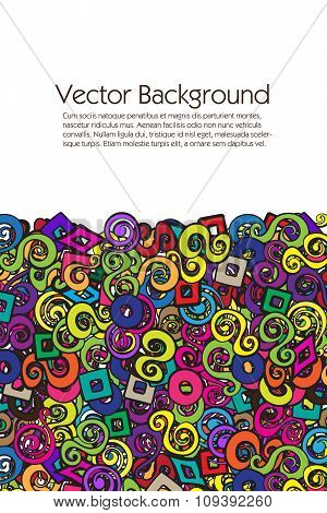 Vector Abstract Background with multiple colorful elements