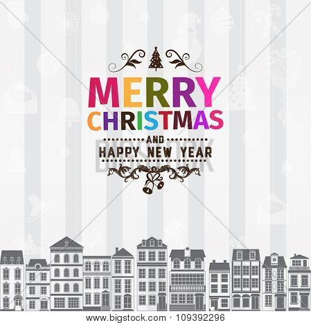 Christmas card and New Year greetings