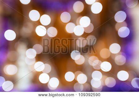 Circular bokeh background of Christmas lights