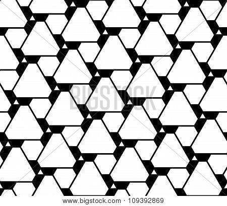 Vector modern seamless geometry pattern futuristic black and white abstract
