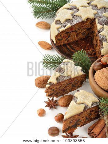 Slice Of Christmas Fruit Cake