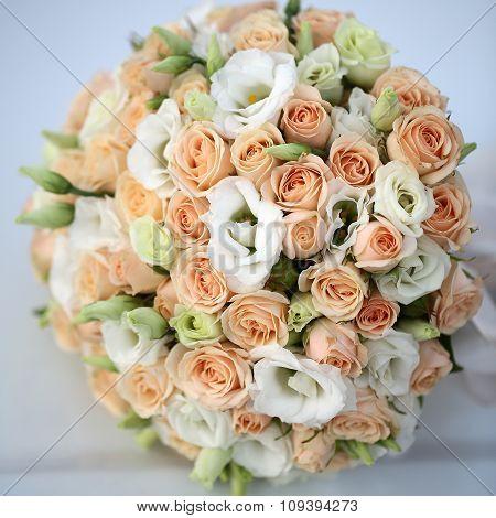 Wedding Bouquet On White