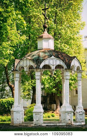 Old gazebo in the Monastery of Saint Euthymius in Suzdal, Russia