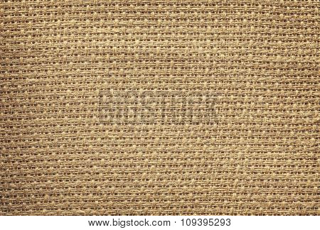 Retro Style Photo Of Natural Linen Fabric.