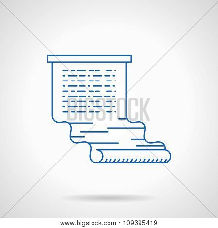 Writing web articles flat blue line vector icon