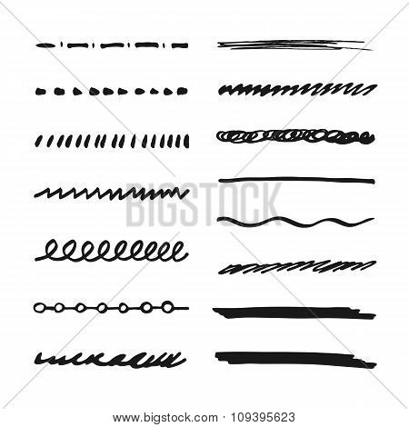 Marker strokes set