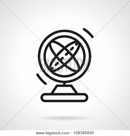 Magnetic pendulum black simple line vector icon