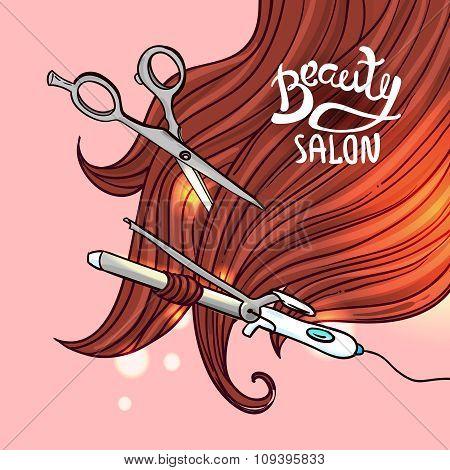 haircut vector illustration