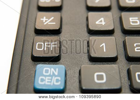 The Buttons Of The Device For Computing Close-up