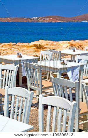 Table In   Greece   Chair And The Summer