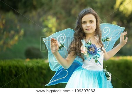 Pretty Girl In Dress With Wings
