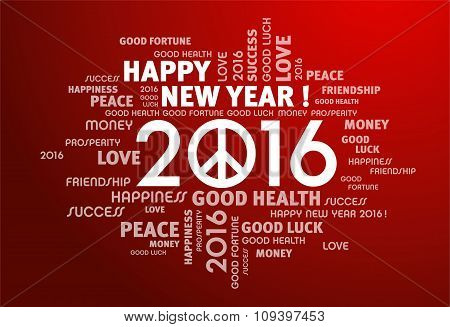 2016 Greeting Card For Peace