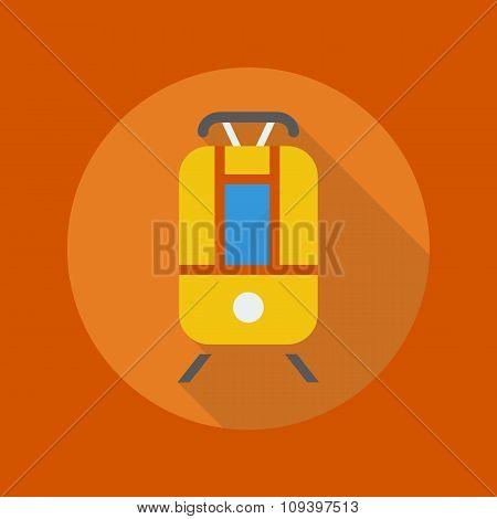 Transportation Flat Icon. Tram