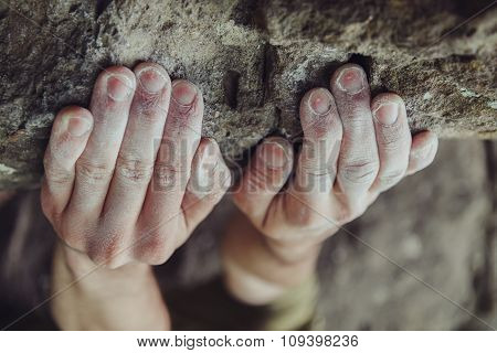 Male Climber Hands