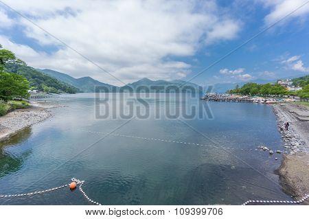 Lake Chuzenji near Nikko falls, Japan