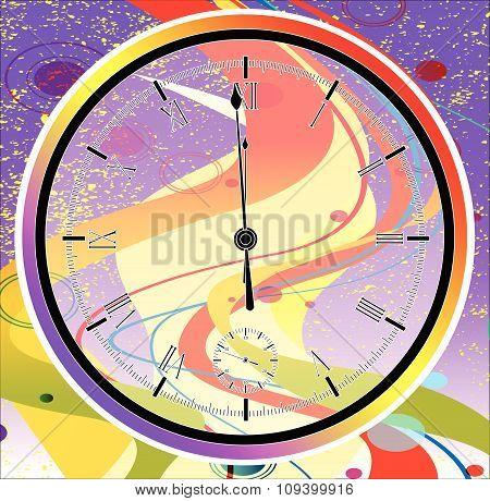 Purple Jazz Midnight Clock