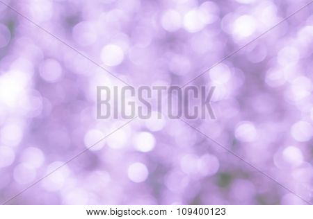 Abstract Blured Background Of Tender Pink Shiny Christmas Tree Decorations