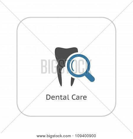 Dental Care Icon. Flat Design.