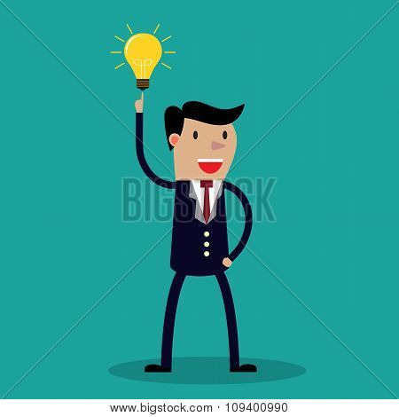 cartoon businessman show idea