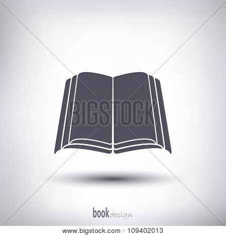 Open Book Silhouette