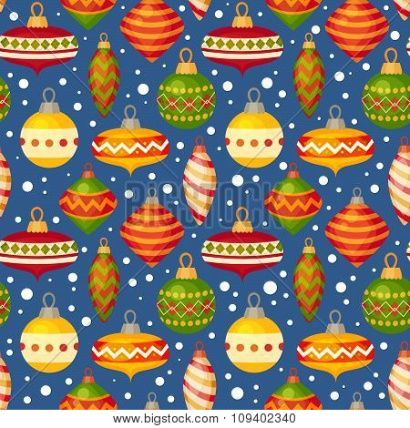 Christmas Balls And Baubles Seamless Pattern