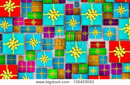 Christmas Gifts Background as a Abstract Concept Art