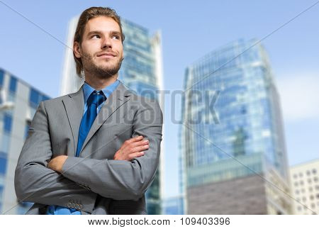 Confident northern businessman in an urban setting
