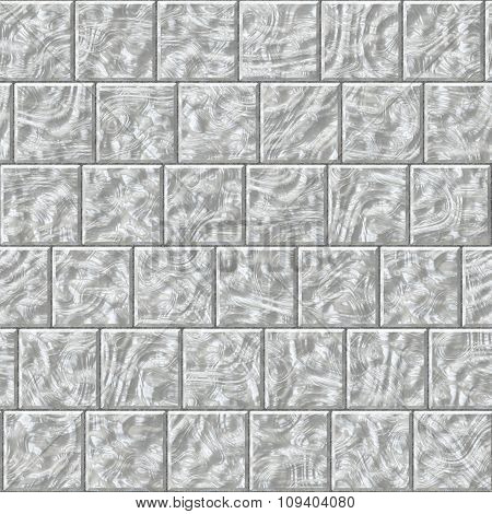 Shiny Reflective Glass Square Tiles Pattern