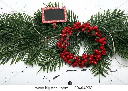 Christmas Decorations On Vintage Background
