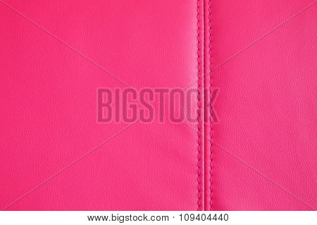 Background Texture Of Magenta Artificial Leather