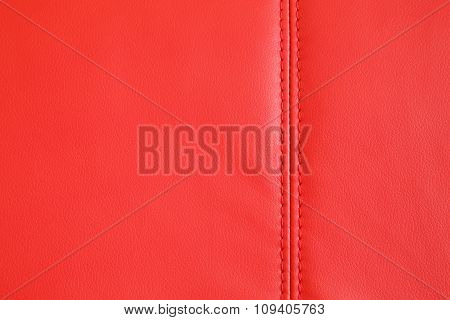Background Texture Of Red Artificial Leather