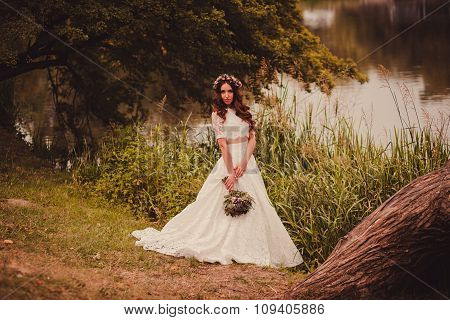 Beautiful Bride In A Dress